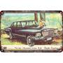 Carteles Antiguos Chapa Gruesa 60x40cm Dodge Vw 1500 Au-193