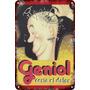 Carteles Antiguos De Chapa 20x30cm Publicidad Geniol Va-003