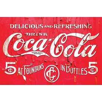 Carteles Antiguos En Chapa Gruesa 30x45cm Coca Cola Dr-363