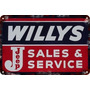 Carteles Antiguo Chapa Gruesa 60x40cm Jeep Willys Au-280
