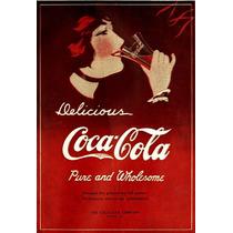 Carteles Antiguos En Chapa Gruesa 30x45cm Coca Cola Dr-019