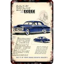 Carteles Antiguos De Chapa Gruesa 60x40cm Dodge Royal Au-223