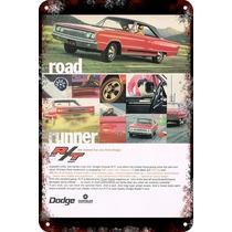 Carteles Antiguos De Chapa Gruesa 60x40cm Dodge Au-225