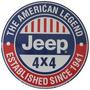 Carteles Antiguos Chapa Gruesa 50cm Jeep 4x4 Willys Au-281