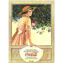 Carteles Antiguos En Chapa Gruesa 30x45cm Coca Cola Dr-349