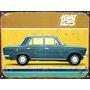 Cartel De Chapa Publicidad Antigua Fiat 125