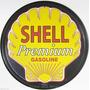 Carteles Antiguos De Chapa Gruesa 40cm Shell Gasoline Pe-097