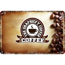 Carteles Antiguos De Chapa Gruesa 60x40cm Coffee Café Al-133