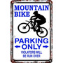 Carteles Antiguos 60x40 Parking Only Mountain Bike Pa-75