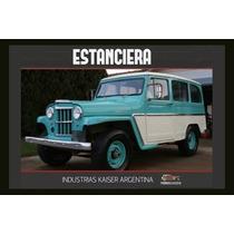 Carteles Antiguo Chapa Gruesa 60x40cm Jeep Estanciera Au-276