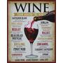 Carteles Antiguos Chapa 20x30cm Poster Vinos Wine Dr-303