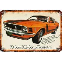 Carteles Antiguos 60x40cm Ford Mustang Boss Au-035