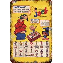 Carteles Antiguos Chapa 60x40cm Chocolatín Jack Al-178