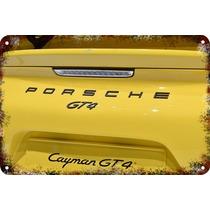 Carteles Antiguos De Chapa Gruesa 60x40cm Porsche Au-383