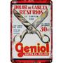 Carteles Antiguos De Chapa 30x45cm Publicidad Geniol Va-004