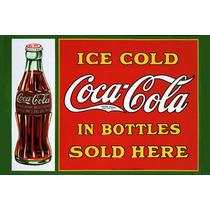 Carteles Antiguos En Chapa Gruesa 20x30cm Coca Cola Dr-009
