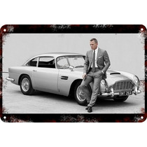 Carteles Antiguos Gruesa 60x40cm 007 Aston Martin Au-343