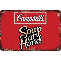 Carteles Antiguos De Chapa 60x40cm Campbells Warhol Al-003