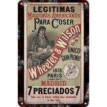 Carteles Antiguos De Chapa 20x30cm Publicidad Singer Va-019