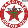 Carteles Antiguos Chapa Gruesa 40cm Texaco Gasoline Pe-004