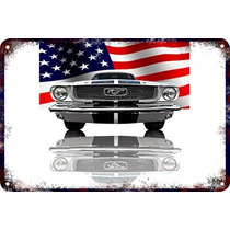 Carteles Antiguos Chapa 60x40cm Ford Mustang Shelby Au-050