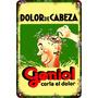 Carteles Antiguos De Chapa 20x30cm Publicidad Geniol Va-007