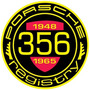 Carteles Antiguos De Chapa Gruesa 50cm Porsche 356 Au-382