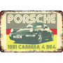 Carteles Antiguos De Chapa Gruesa 60x40cm Porsche Au-390