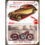 Cartel Chapa Publicidad Antigua 1939 Hanomag Indian L245