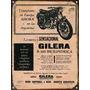 Cartel Chapa Publicidad Antigua Gilera P259