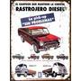 Cartel Chapa Publicidad Antigua Rastrojero Diesel L235