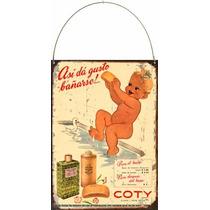 Chapa Vintage Publicidad Antigua Jabon Colonia Coty L673