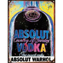 Cartel De Chapa Publicidad Antigua Absolut Vodka Warhol M527