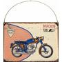 Cartel Chapa Publicidad Antigua Ducati 125cc Y216
