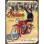 Cartel De Chapa Publicidad Antigua Indian 1916 M241