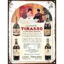Cartel Chapa Publicidades Antiguas 1923 Vinos Tirasso L524