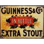 Cartel De Chapa Publicidades Antiguas Cerveza Guinness P516