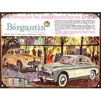 Cartel De Chapa Publicidad Antigua 1961 Bergantin L280