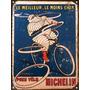 Cartel De Chapa Publicidad Antigua Michelin X280