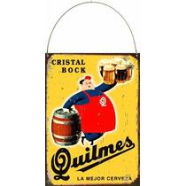Cartel De Chapa Publicidades Antiguas Cerveza Quilmes L523