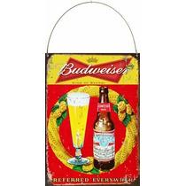 Cartel De Chapa Publicidades Antiguas Cerveza Budweiser P545