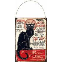 Cartel Chapa Chat Noir P826