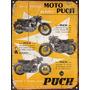 Cartel Chapa Publicidad Antigua Moto Puch P279