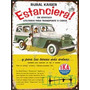 Cartel Chapa Publicidad Antigua Estanciera Y Jeep Ika X267