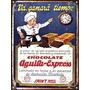 Cartel De Chapa Publicidad Antigua Chocolate Aguila L684