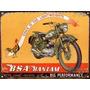 Cartel Chapa Publicidad Antigua 1947 Moto Bsa 125cc L261