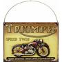 Cartel De Chapa Publicidad Antigua Moto Triumph X268