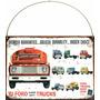 Cartel Chapa Publicidad Antigua Ford Camion Trucks 1961 X227