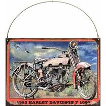 Cartel Chapa Publicidad Antigua Harley Davidson 1923 L270