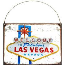 Cartel De Chapa Publicidades Antiguas Las Vegas Z312